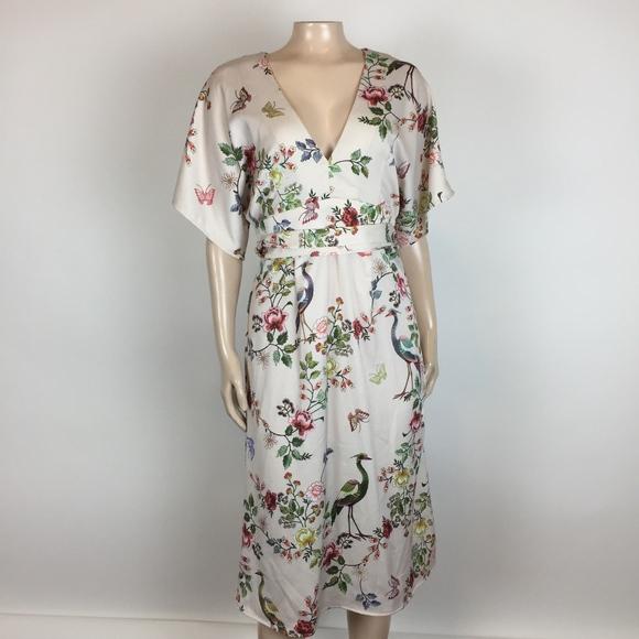 19b730c675d75 Anthropologie Dresses | New Dra Los Angeles Avian Kimno Floral Dress ...